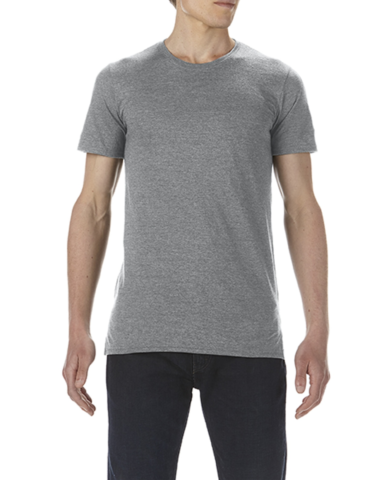 f43a4db796c4 5624 | 4.3 oz/yd² | Adult Lightweight Long & Lean Tee | Anvil