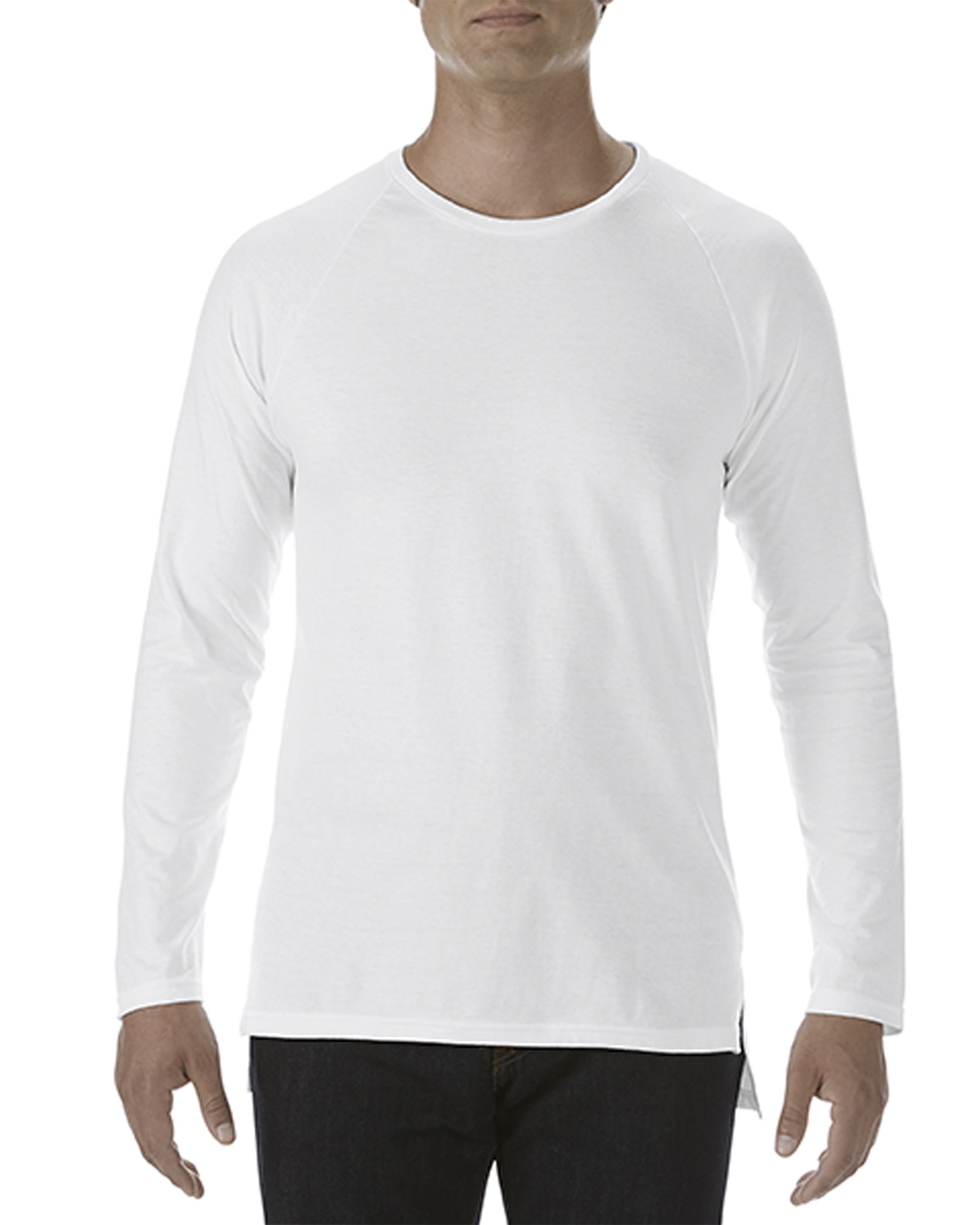 6c9eb3846907 5628 | 150.0 g/m² | Adult Lightweight Long & Lean Long Sleeve Raglan ...
