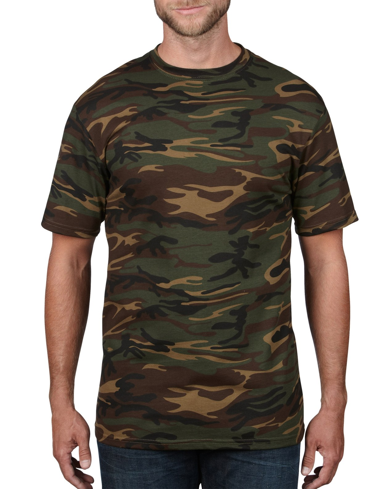 a5eab63f2 939 | 4.9 oz/yd² | Adult Midweight Camouflage Tee | Anvil